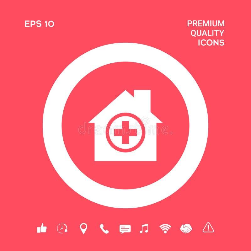 Szpitalna symbol ikona Graficzni elementy dla twój projekta ilustracji