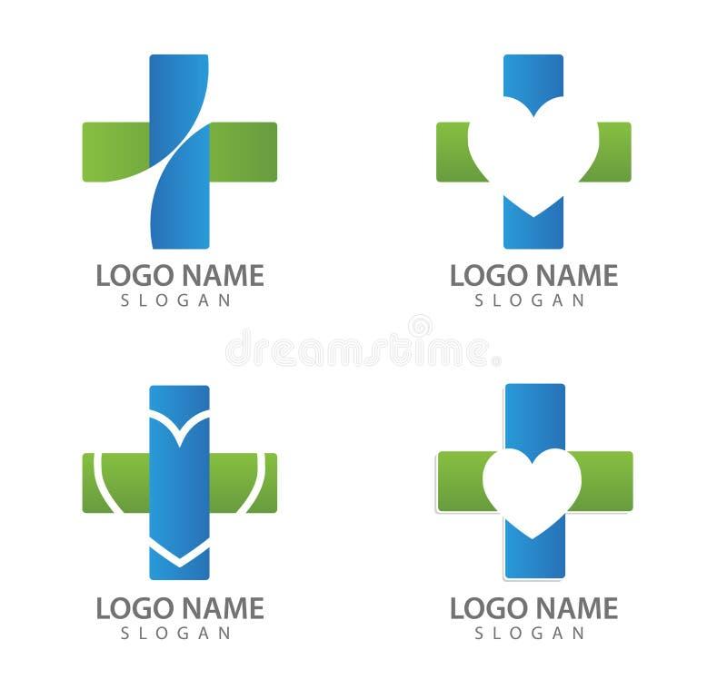 Szpitalne logo ikony, logo, lekarka, wektory ilustracja wektor