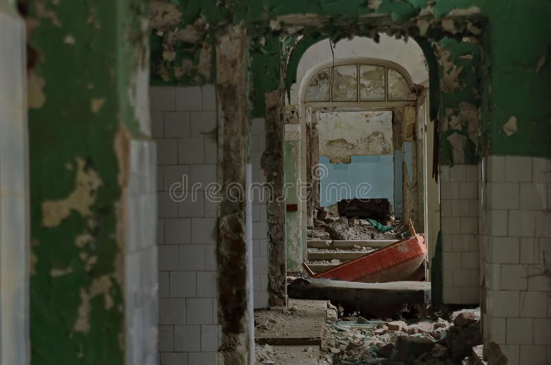 Szpitalne ruiny obraz royalty free