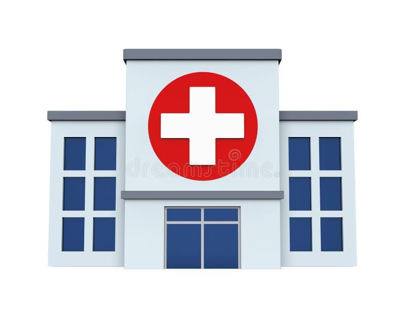 Szpitalny budynek Odizolowywający ilustracji