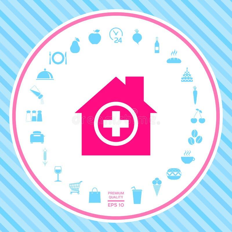 Szpitalny ikona symbol royalty ilustracja