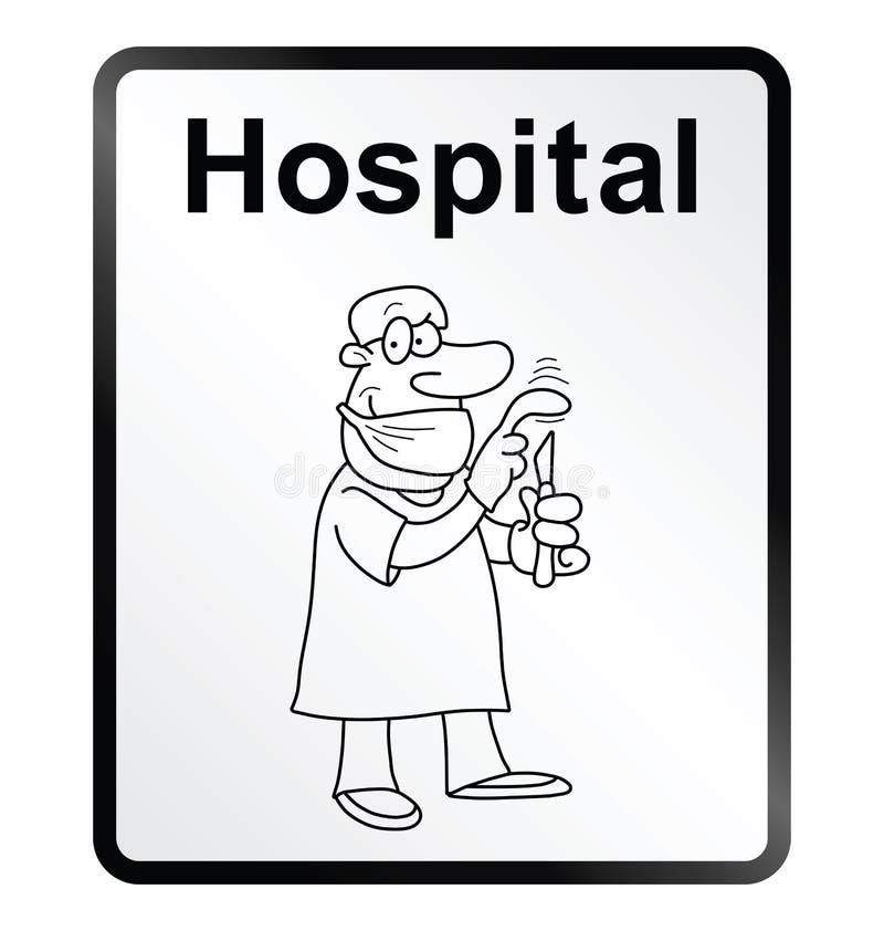 Szpitalny informacja znak ilustracji