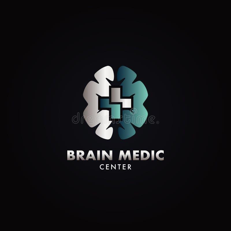 Szpitalny Móżdżkowy centrum medyczne logo ilustracja wektor