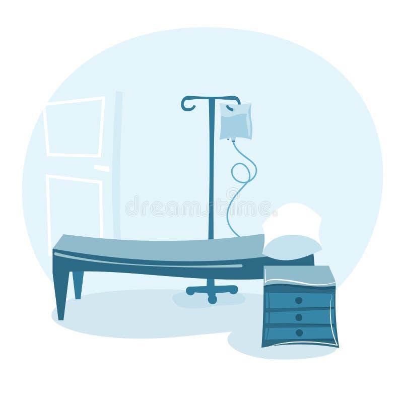Szpitalny oddział royalty ilustracja