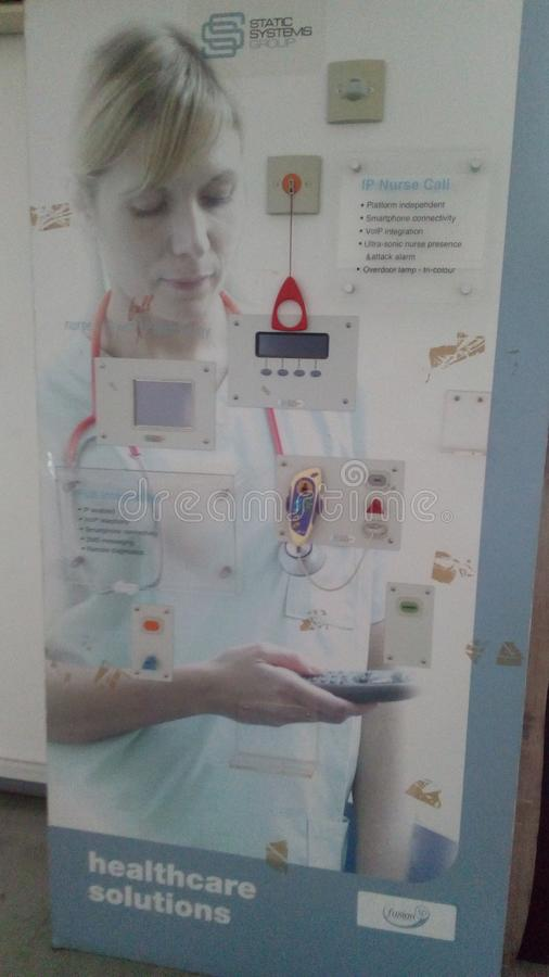 Szpitalny używa lepszy przyszłościowego dotyka obrazy stock