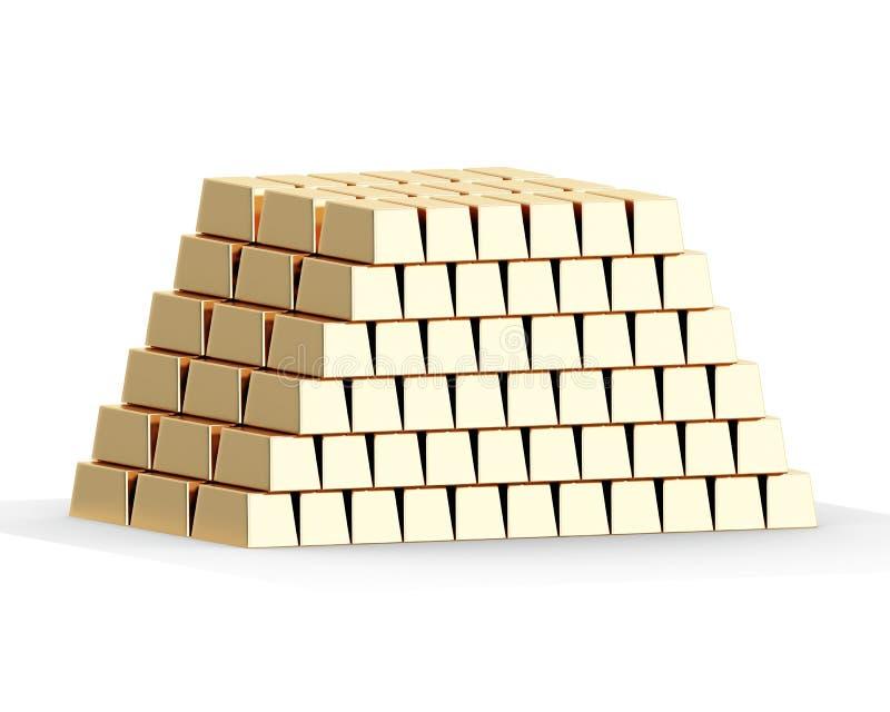sztaby złoto royalty ilustracja