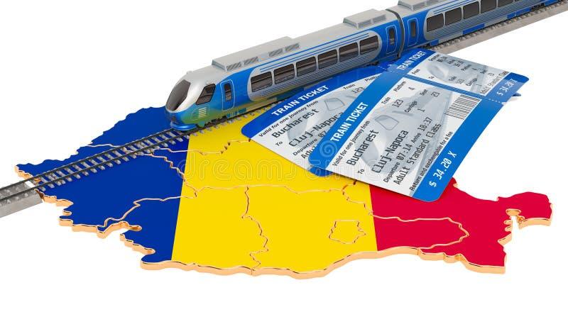 Sztachetowa podróż w Rumunia, pojęcie ?wiadczenia 3 d royalty ilustracja