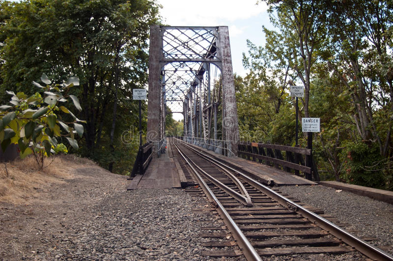 Sztachetowy most obrazy royalty free