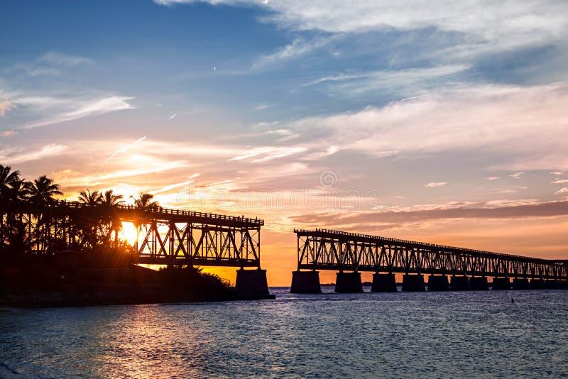 Sztachetowy most przy Floryda kluczami zdjęcia royalty free