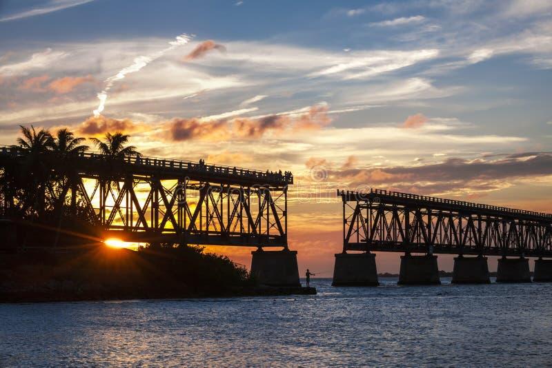 Sztachetowy most przy Floryda kluczami obraz royalty free