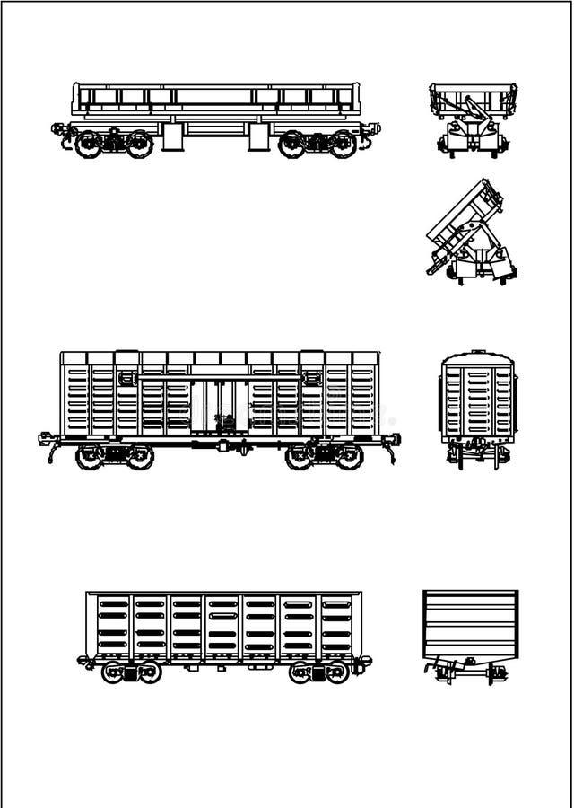 sztachetowy wektorowy furgon ilustracja wektor