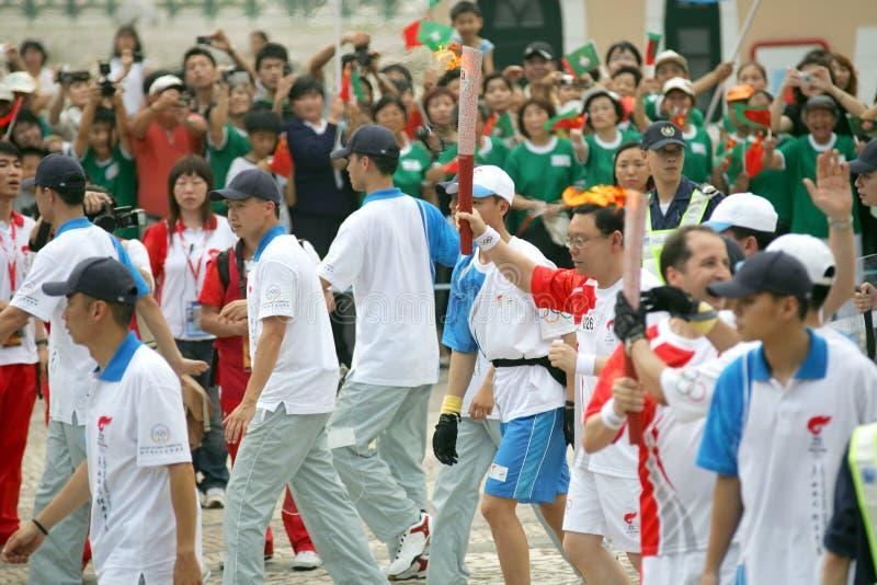 sztafetowa pochodnia olimpijska zdjęcie royalty free