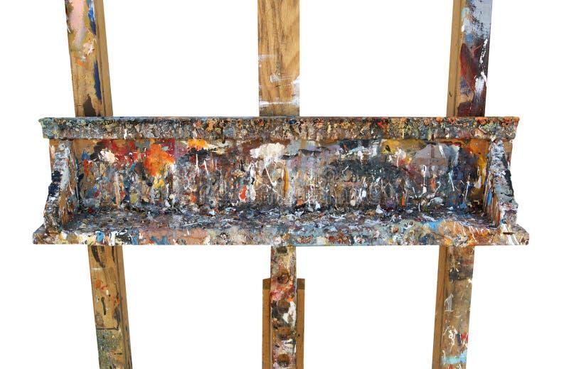Sztaluga malarz odizolowywający na białym tle zdjęcie stock