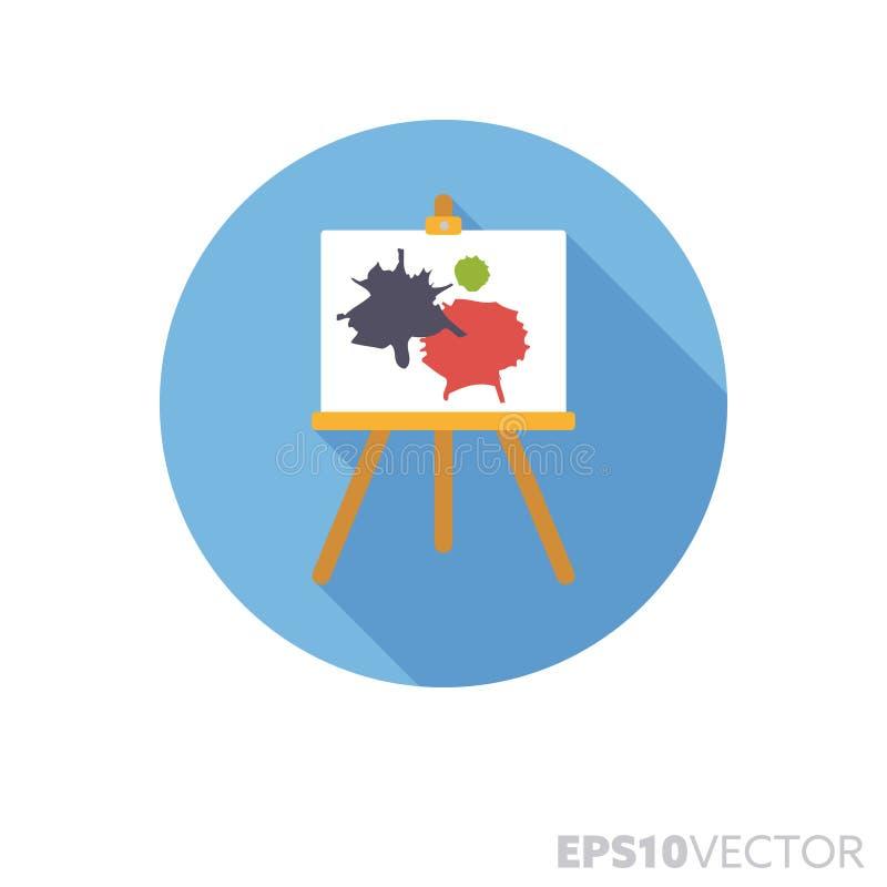 Sztaluga z obrazu płaskiego projekta cienia koloru wektoru długą ikoną royalty ilustracja