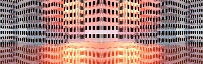 sztandarów abstrakcjonistyczni budynki royalty ilustracja