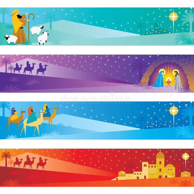 sztandarów boże narodzenia royalty ilustracja