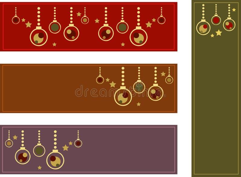 sztandarów boże narodzenia kolorowi ilustracja wektor