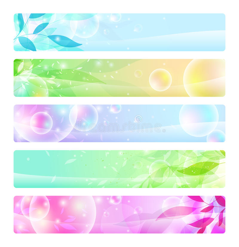 sztandarów chodnikowowie kolorowi glansowani ilustracja wektor