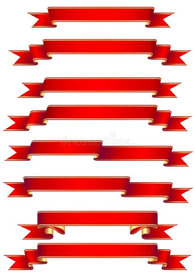 sztandarów czerwieni set royalty ilustracja