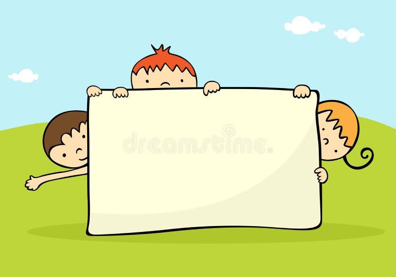 sztandarów dzieciaki ilustracja wektor