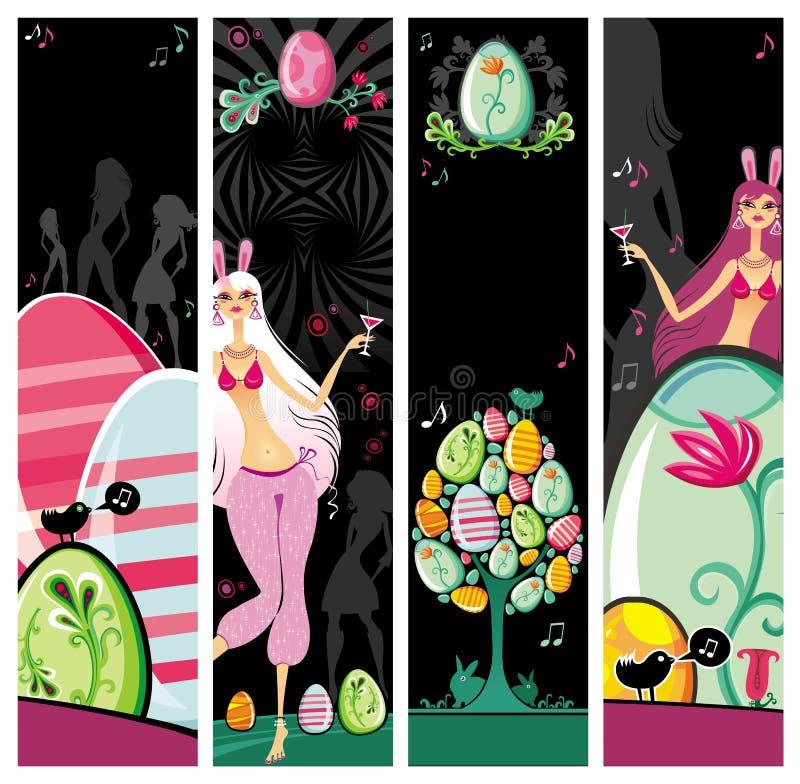 sztandarów Easter noc royalty ilustracja