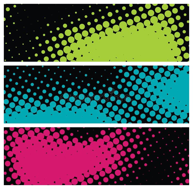 sztandarów grunge halftone ilustracji