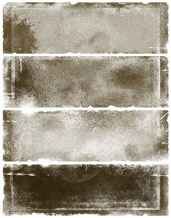 sztandarów grunge sepia royalty ilustracja