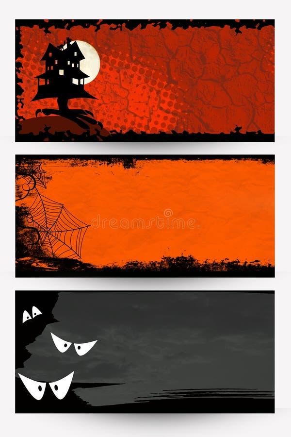 (1) sztandarów Halloween ilustracyjny część wektor ilustracji