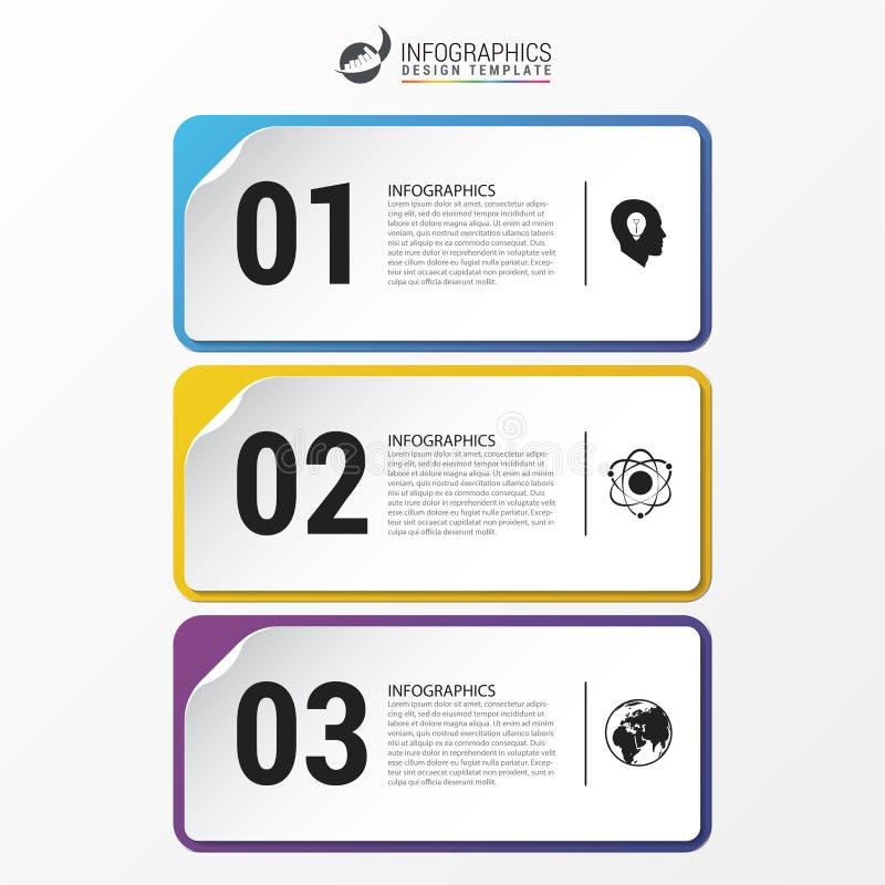 sztandarów ilustraci papieru setu wektor Infographic projekta szablon wektor ilustracja wektor