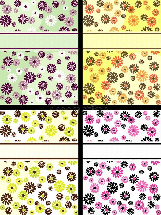 sztandarów inkasowych kwiatów retro vertical royalty ilustracja