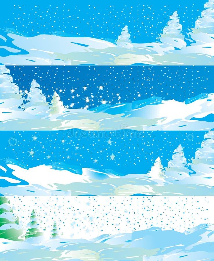 sztandarów internetów zima ilustracja wektor