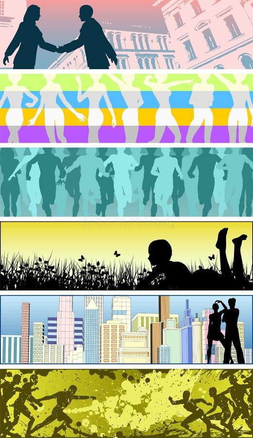 sztandarów ludzie ilustracji