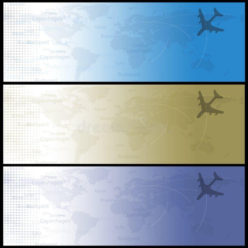 sztandarów podróży sieć ilustracja wektor