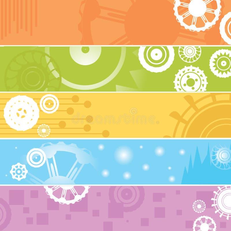 Download Sztandarów przekładni sieć ilustracja wektor. Ilustracja złożonej z kąt - 13343260