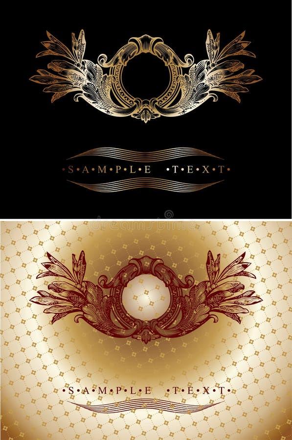 sztandar czerwień złocista ozdobna ilustracja wektor