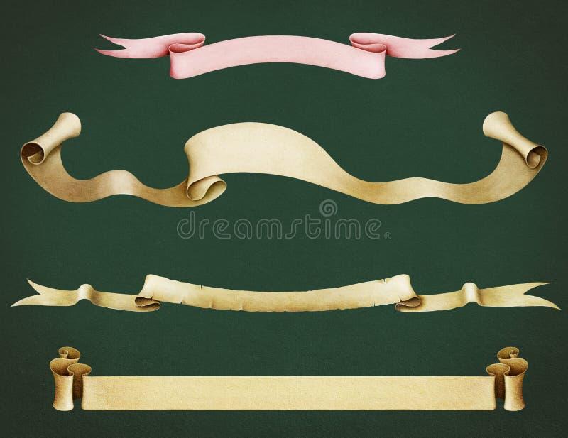 sztandar cztery royalty ilustracja
