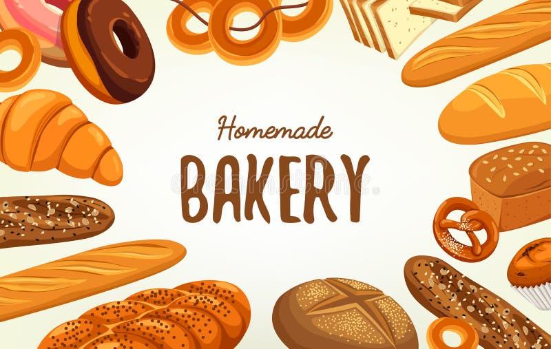 Sztandar dla ciasta, piekarnia, jedzenie i odżywianie, ilustracji