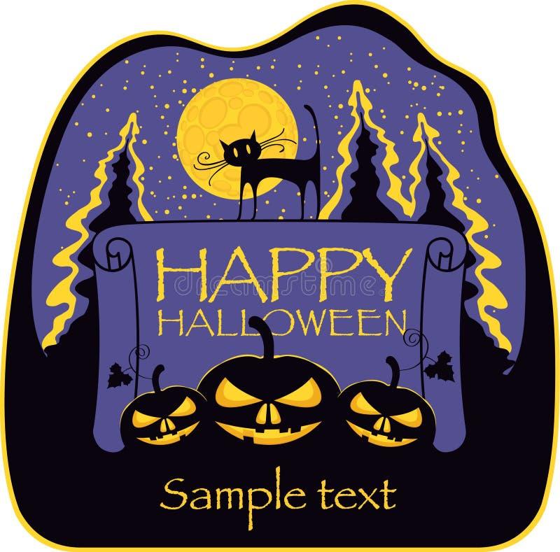 Sztandar dla Halloween royalty ilustracja