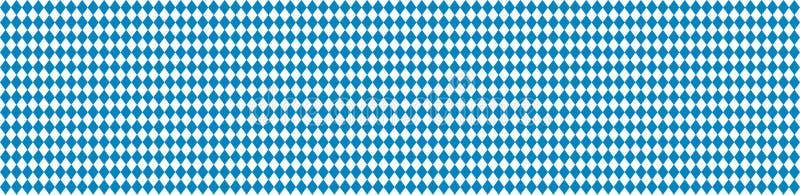 Sztandar dla Oktoberfest białego i błękitnego Tradycyjnego rhombus wzoru sztandaru eps10 kartoteka ablegrujący wektor ilustracji