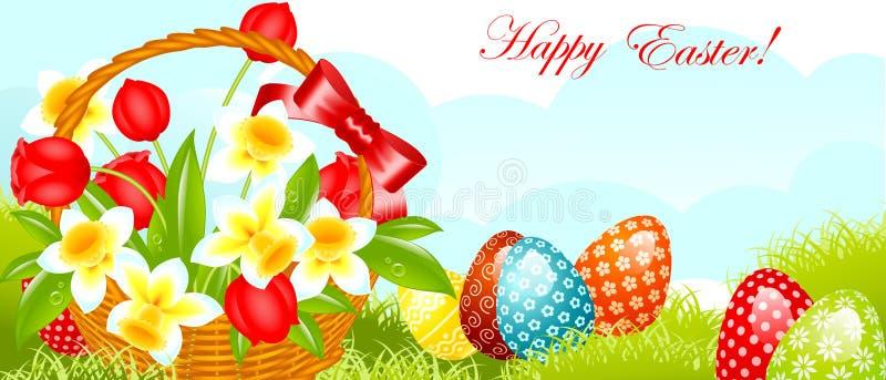 sztandar Easter szczęśliwy ilustracji