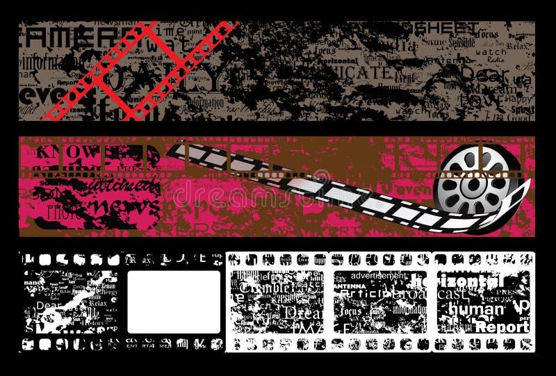 sztandar ekranowej ramy grunge textured ilustracja wektor