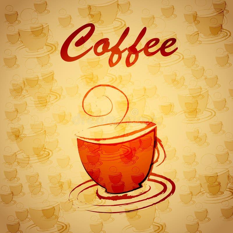 Sztandar filiżanka kawy royalty ilustracja