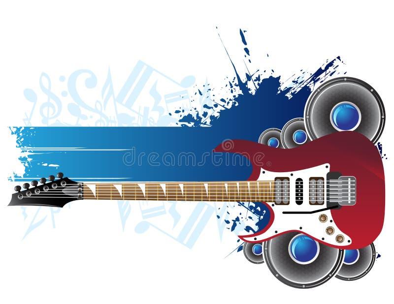 sztandar gitara ilustracja wektor