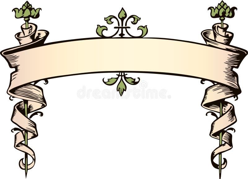 sztandar grymaśny ilustracja wektor