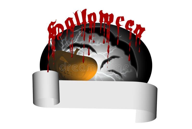 sztandar Halloween ilustracji