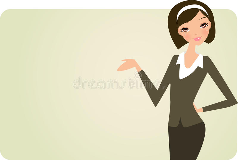 sztandar kobieta royalty ilustracja