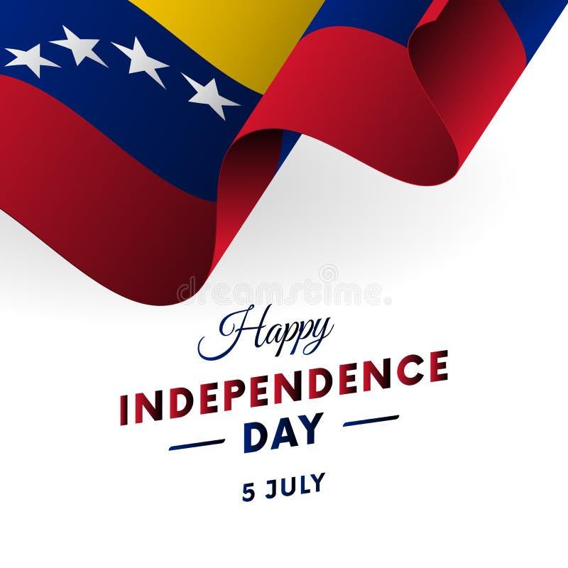 Sztandar lub plakat Wenezuela dnia niepodległości świętowanie TARGET516_1_ Flaga również zwrócić corel ilustracji wektora ilustracja wektor