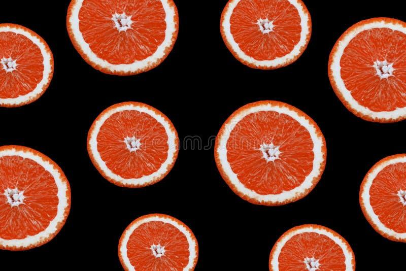 Sztandar mnóstwo przyrodni dojrzały grapefruitowy owocowy plasterek zdjęcie stock