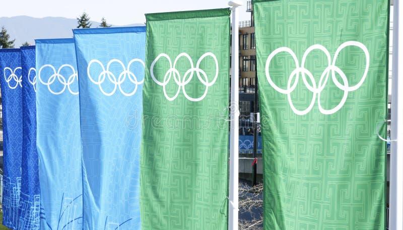 sztandar olimpiady Vancouver zdjęcia stock