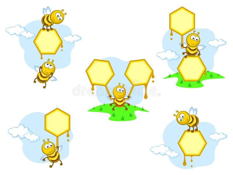 sztandar pszczoły royalty ilustracja